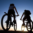 Couple on bicycles — Stock Photo #1944357
