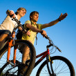 Stock Photo: Bicycler