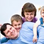 We are happy family — Stock Photo