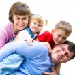 Stock Photo: We are happy family