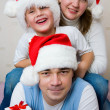Christmas Happy family — Stock Photo