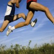 Stock Photo: Flight of runners