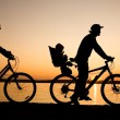 Royalty-Free Stock Photo: Family bicycler