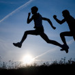 Two runners — Stock Photo