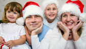 Christmas Happy family — Stockfoto