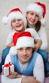 Christmas Happy family — Stock Photo