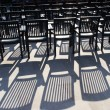 Rows of free chairs — Stock Photo
