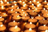 свеча группа - стола — Стоковое фото