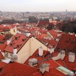 Prague - a city of red roofs. — Stock Photo