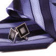 Cuff links and tie — Stock Photo