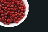 Fresh cranberry on a plate. — Stock Photo