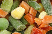 The heap of frozen vegetables. — Stock Photo
