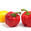 Royalty-Free Stock Photo: Red and yellow wet sweet pepper.