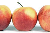 A line of red apples. — Stock Photo