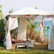 Gazebo on the beach — Stock Photo
