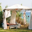 Stock Photo: Gazebo on the beach
