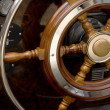 Steering wheel sailboat — Stock Photo #1455996