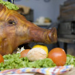 Stock Photo: Head of pork