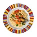 Spaghetti with shellfish — Stock Photo