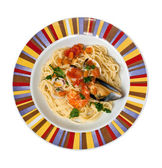 Spaghetti with shellfish — Stock Photo