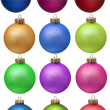 Collection christmas ornament — Stock Photo