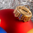 Foto Stock: Colorful christmas balls