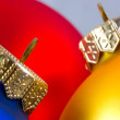 Stockfoto: Colorful christmas balls i