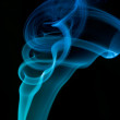 Royalty-Free Stock Photo: Abstract blue smoke