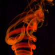 Stock Photo: Red smoke