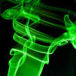 Abstract green smoke . black background — Stock Photo #1451886