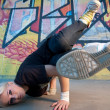 Girl break-dancer — Stock Photo