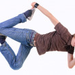 Young breakdancer posing. — Stock Photo