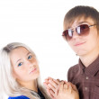 Royalty-Free Stock Photo: Smiling teenage couple.