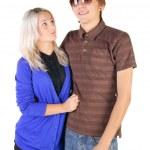 Smiling teenage couple. — Stock Photo