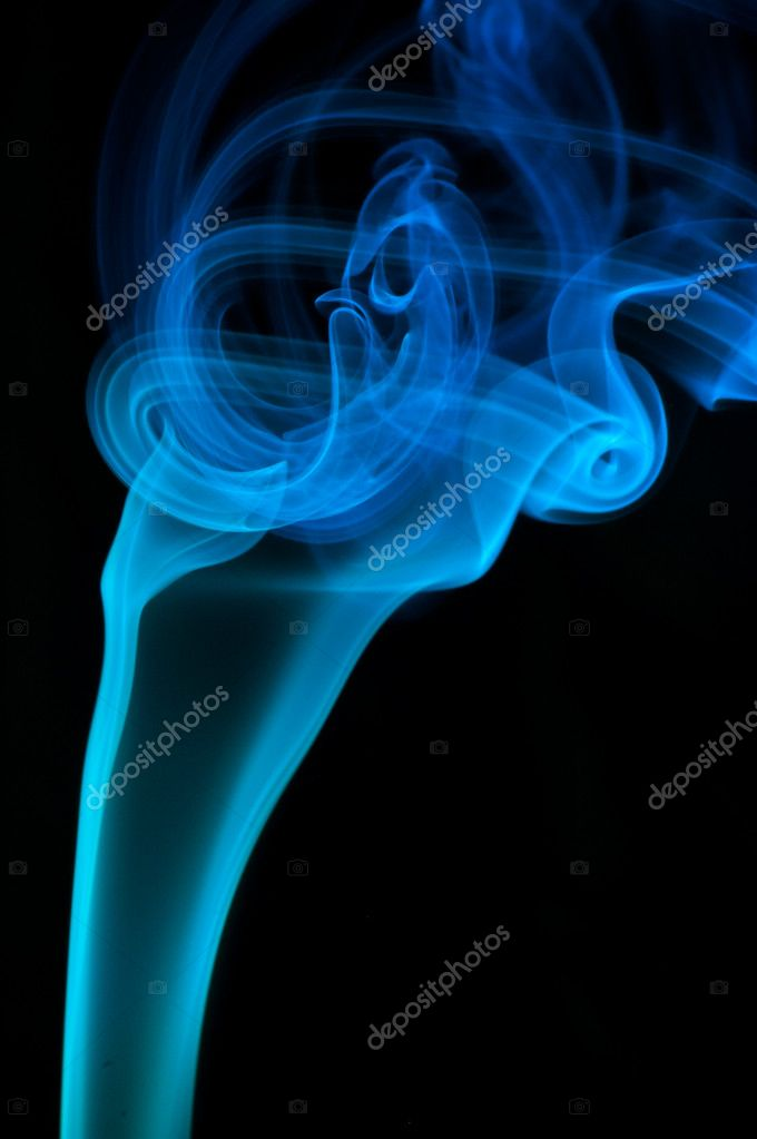 Bstract blue smoke over black background — Stock Photo #1451903