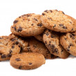 Delicious homemade chocolate chip cookies — Stock Photo