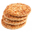 Cookies with a nut crumb. - Stock Photo
