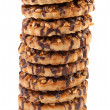 Chocolate Chip Cookies with a nut crumb. - Stock Photo