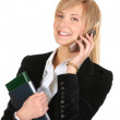 Business woman calling by phone. — Stock Photo #1469200