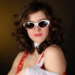 Beautiful girl in sun glasses — Stock Photo