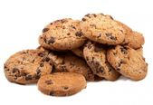 Delicious homemade chocolate chip cookies — Stockfoto