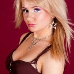 portrét mladé atraktivní dáma — Stock fotografie #1573078