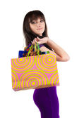 Beautiful woman with shoping bags — Stock Photo