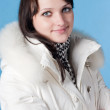 Beautiful happy woman in winter clothes. — Stock Photo