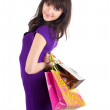 Beautiful woman with shoping bags. — Stock Photo