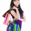 Beautiful woman with shoping bags. — ストック写真