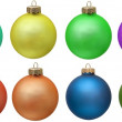 Collection of colored christmas ornament . Isola — Stock Photo
