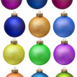 Collection of colored christmas ornament . Isola — Stock Photo #2007385