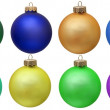 Royalty-Free Stock Photo: Collection of colored christmas ornament . Isola
