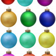 Collection of colored christmas ornament . Isola — Stock Photo #2007481